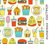 food seamless pattern. vector... | Shutterstock .eps vector #426779929