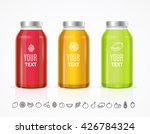 colorful juice bottle jar... | Shutterstock .eps vector #426784324