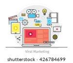 thin line flat design concept... | Shutterstock .eps vector #426784699