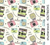 cute doodle camera print ... | Shutterstock .eps vector #426786541