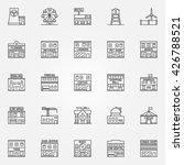 City Buildings Icon Set  ...