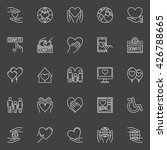 charity and donation icons  ...