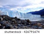 Sky, glacier and rocks:Glacier Perito Moreno, Southern Patagonian Ice Field, El Calafate, Argentina