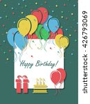 birthday background with... | Shutterstock .eps vector #426793069