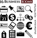 business icon set. 16 icons... | Shutterstock .eps vector #426794764