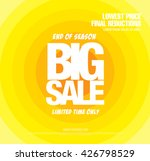 big sale banner | Shutterstock .eps vector #426798529