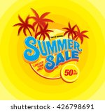 summer sale template banner | Shutterstock .eps vector #426798691