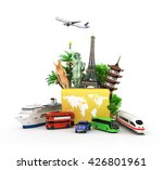 concept of travel and tourism ... | Shutterstock . vector #426801961
