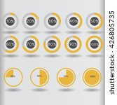 icons pie graph circle... | Shutterstock .eps vector #426805735