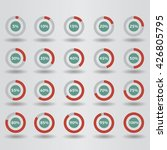 icons template pie graph circle ...   Shutterstock .eps vector #426805795