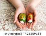 an easter eggs in the children... | Shutterstock . vector #426809155