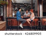 group of young people sitting... | Shutterstock . vector #426809905