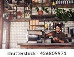 indoor shot of young male... | Shutterstock . vector #426809971