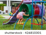 attractive little girl on... | Shutterstock . vector #426810301
