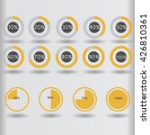 icons pie graph circle... | Shutterstock . vector #426810361