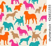 dogs silhouette colorful... | Shutterstock .eps vector #426811555