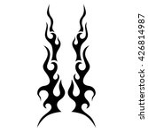 flame tattoo tribal vector... | Shutterstock .eps vector #426814987
