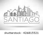 minimal city linear skyline...   Shutterstock .eps vector #426815521