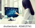 people  technology  biology ... | Shutterstock . vector #426815761
