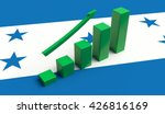 arrow pointing up on a flag of... | Shutterstock . vector #426816169