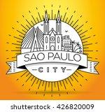 minimal sao paulo city linear... | Shutterstock .eps vector #426820009