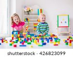kids play at day care. two... | Shutterstock . vector #426823099