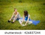 two beautiful young european...   Shutterstock . vector #426837244