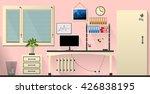 flat vector interior office... | Shutterstock .eps vector #426838195