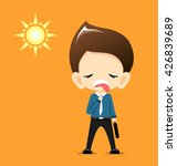 businessman very hot with the... | Shutterstock .eps vector #426839689