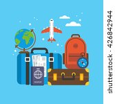 travel and tourism concept.... | Shutterstock .eps vector #426842944