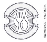 food service sign. fork and... | Shutterstock .eps vector #426845821