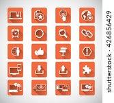 internet network icon set | Shutterstock .eps vector #426856429