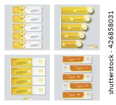 collection of 4 yellow color... | Shutterstock .eps vector #426858031