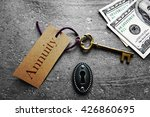 gold key with annuity tag  with