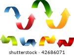 3d arrow set colorful vector... | Shutterstock .eps vector #42686071