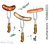 watercolor food clipart  ... | Shutterstock . vector #426863221