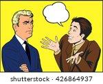 upset man talk pop art vector... | Shutterstock .eps vector #426864937