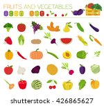 fruits and vegetables.... | Shutterstock .eps vector #426865627