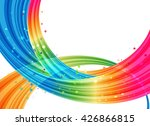 different colored bound planes... | Shutterstock . vector #426866815