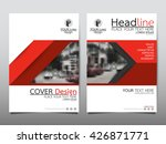 red annual report brochure... | Shutterstock .eps vector #426871771