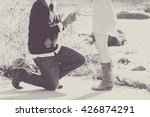 proposal engagement picture in... | Shutterstock . vector #426874291