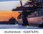 container port of hamburg in... | Shutterstock . vector #426876391