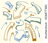 a large set of hand drawn...   Shutterstock .eps vector #426877381