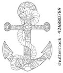 anchor coloring book for adults ... | Shutterstock .eps vector #426880789