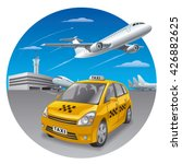 illustration of taxi car in... | Shutterstock .eps vector #426882625
