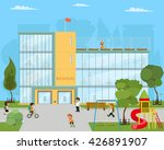 school kids uniform. vector... | Shutterstock .eps vector #426891907
