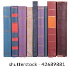 pile of old books on a white... | Shutterstock . vector #42689881