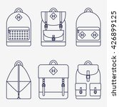 backpack isolated icons set on... | Shutterstock .eps vector #426899125