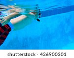 little boy swimming underwater  ... | Shutterstock . vector #426900301