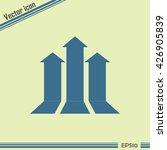 up arrow icon. | Shutterstock .eps vector #426905839